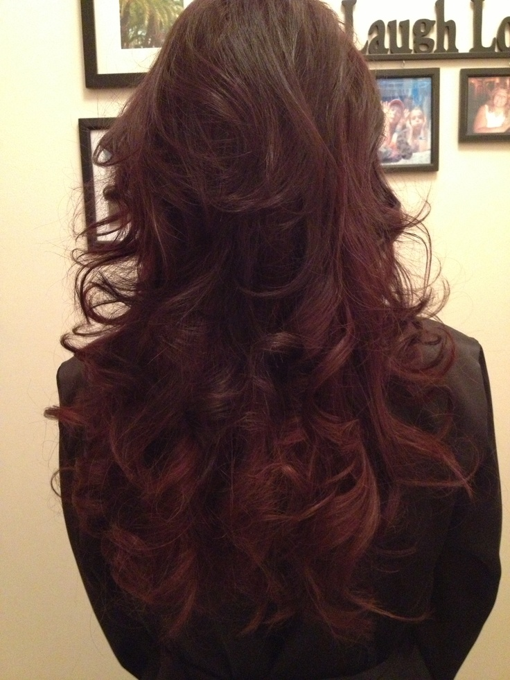 dark brown with burgundy underneath… this could be a potential option for me.. having a difficult time on deciding what color I want to do next week