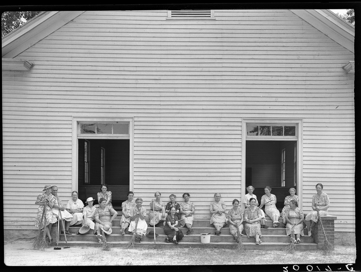 Dorothea Lange  My grandmother and other women of the church on cleaning day in Person County, NC