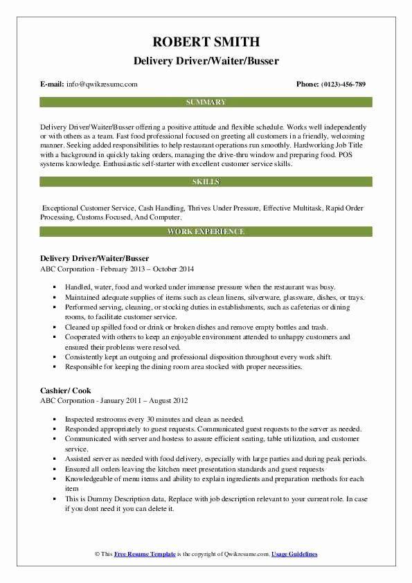 Busser Job Description Resume Awesome Busser Resume Samples In 2020 Teacher Resume Examples Resume Examples Good Resume Examples
