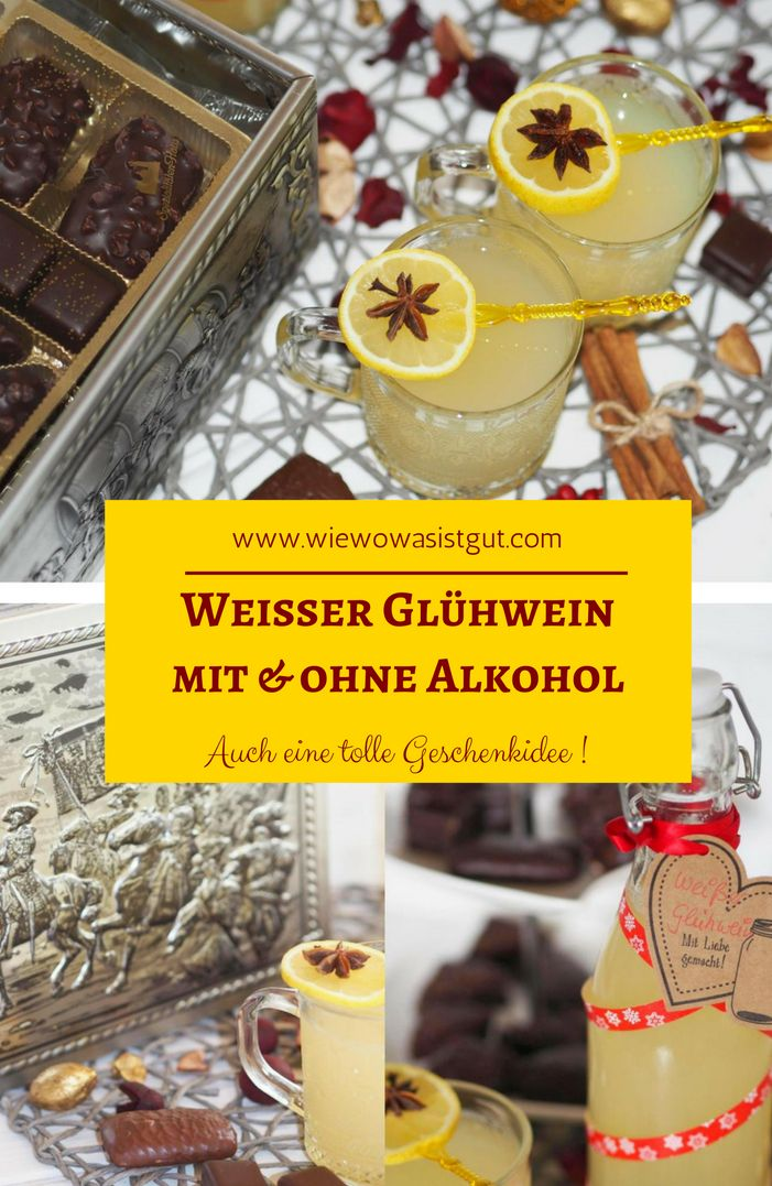 Ich liebe weißen Glühwein. Selbstgemacht natürlich. Glühwein oder Punsch kann man ganz einfach im Topf oder im Thermomix selber machen. Man kennt die Zutaten und kann die Zuckermenge selbst bestimmen. Auch in der Flasche eine ganz tolle Geschenkidee. Dazu dann eine paar leckere Köstlichkeiten aus der Aachener Schatzkiste.   #Werbung #SpeziHaus #SchenkenMachtGlücklich #Geschenkbox