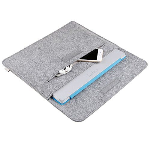 Inateck Surface Pro 3 Case Cover 12 Inch Tablet Sleeve Bag for Microsoft Surface Pro 3 (3rd Generation), a Felt Pouch Included, Grey