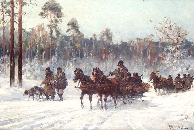 Władysław CHMIELIŃSKI (1911-1979) 'Na polowanie'