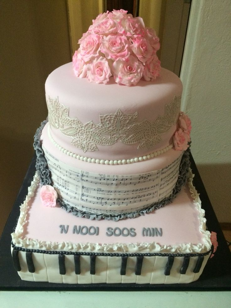 Cake for South African singer Min Shaw birthday 2014