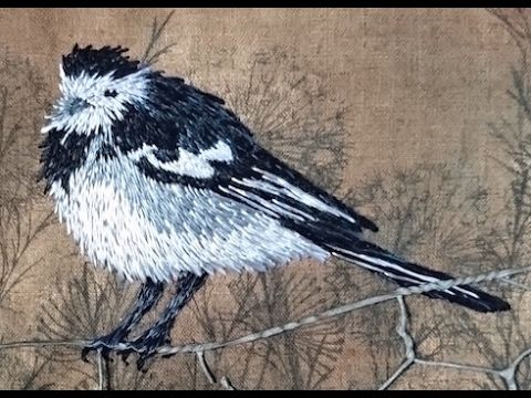 07. How to Embroider a Wagtail. Finishing Details, Framing. Craft Jitsu ...