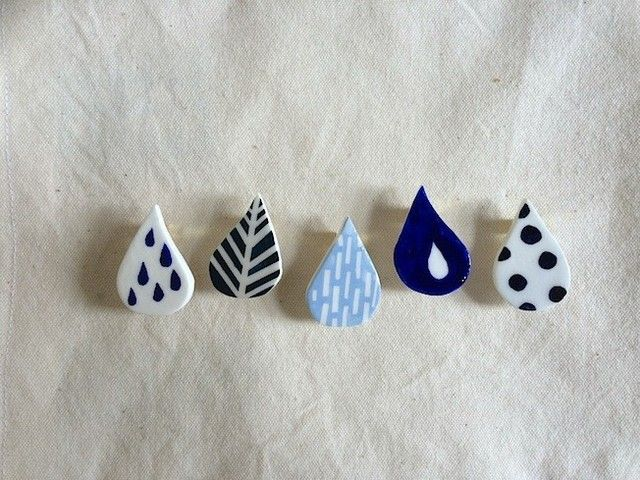 Teardrop Pins / Earrings.