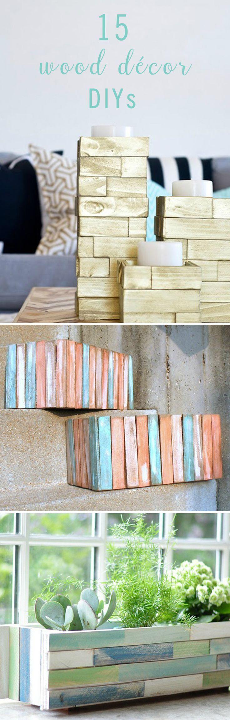 88 best home decor ideas images on pinterest baby crafts baby 15 easy wood dcor diys diy ideasdecor solutioingenieria Image collections