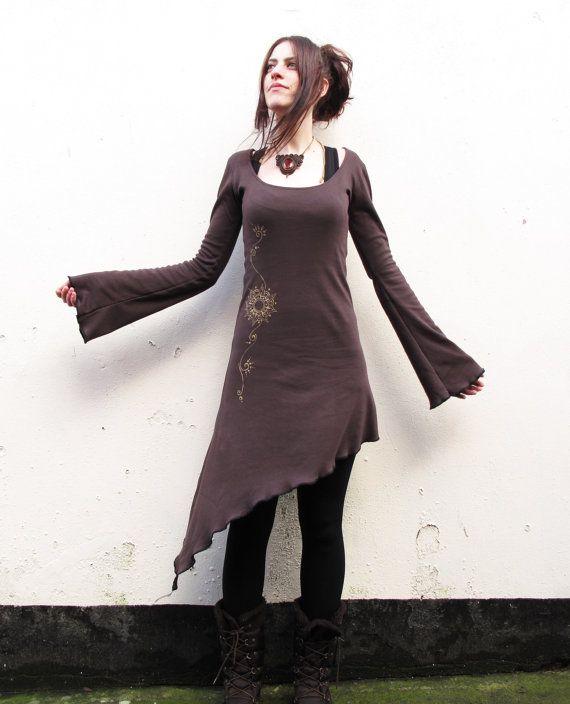 Pixie dress. Elven dress. Goddess dress. Mandala. Boho. Sacred geometry. fairy dress. Festival dress, burning man, maxi dress, psy, on Etsy, $63.99