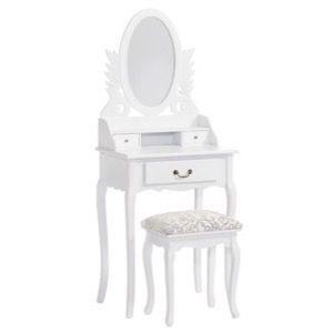 Hvidt sminkebord 60x146x40cm - Alt i Sminkeborde & Hvide møbler