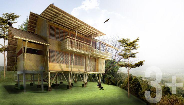 KAMOJANG BAMBOO HOUSE THE OTHER VIEW | GARUT | INDONESIA