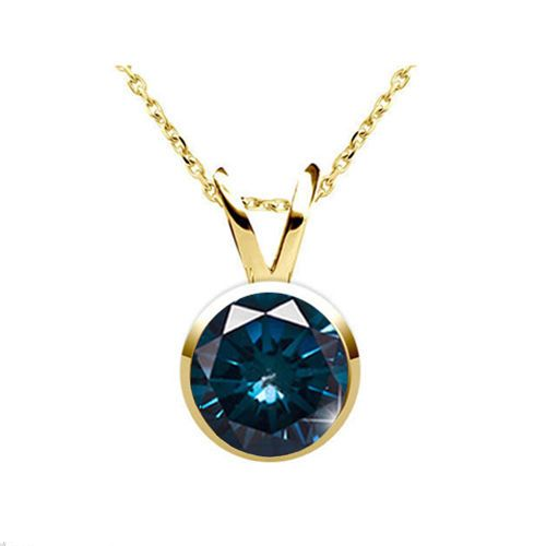 0.25 Karat blauer Diamant Solitäranhänger - 585/14K Gold für nur 699 Euro #diamantanhaenger #weissgold #gelbgold #rosegold #blauer_diamant #schmuck #kette #collier #juwelier #abt #dortmund #karat