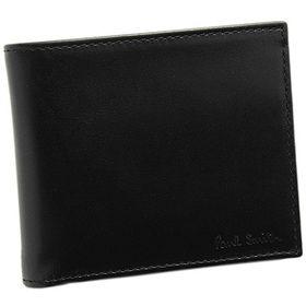 ポールスミス 財布 メンズ 二つ折り財布 ブラック/マルチストライプ