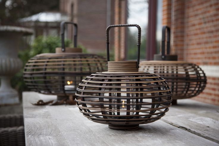 Classy collection. Lamps recycled plastic and bamboo have been interwoven to create a striking design for indoors and outdoors.