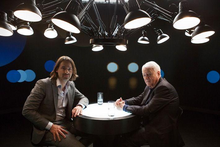 """ZDF-Sendung """"Precht: Komplexe Welt - Ratlose Menschen"""" /  Richard David Precht im Gespräch mit Filmemacher und Schriftsteller Alexander Kluge"""