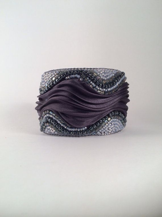 Hey, I found this really awesome Etsy listing at https://www.etsy.com/ru/listing/222492234/ooak-shibori-silk-cuff-seed-beads-bead