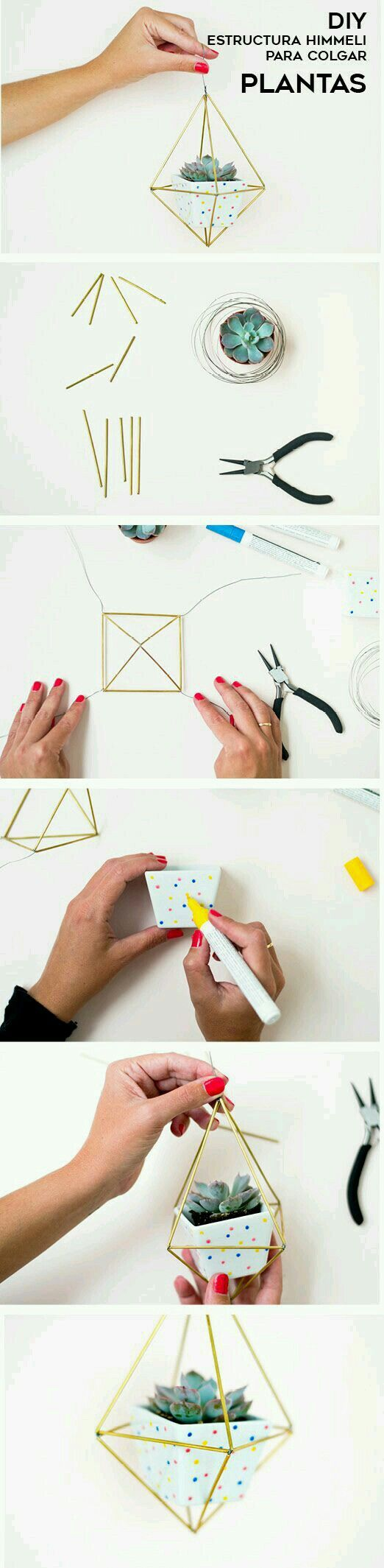 I love the geometric decor trend and this is a simple and affordable way to add it to any room!