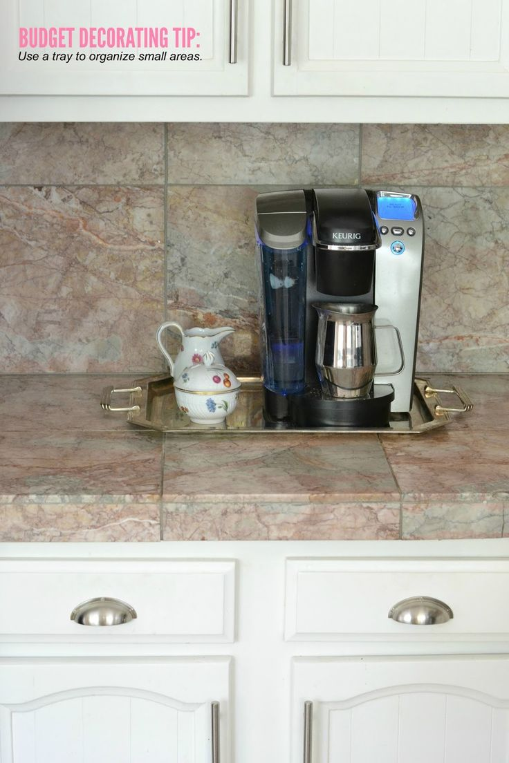 Tiny Craftsman Comes With Espresso Station: Use Trays To Organize Small Spaces, Like This Little