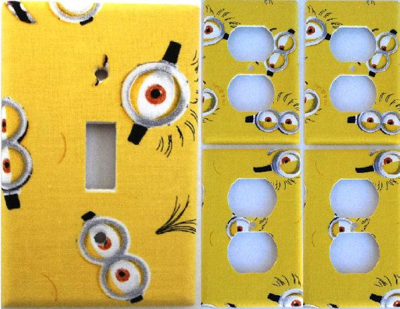 Yellow Minion Despicable Me Light Switch Cover Plate Boys