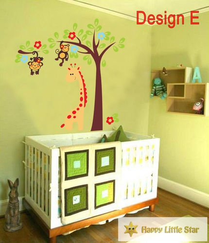 A+B Sale Jungle Animal/ Colourful owl Nursery Wall Sticker/Wall paper | eBay