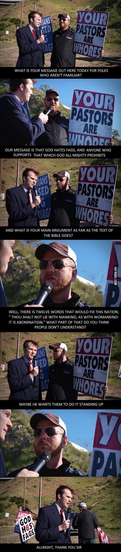 WestBoro Baptist Church Gets Trolled... don't know who this reporter is, but he deserves an award