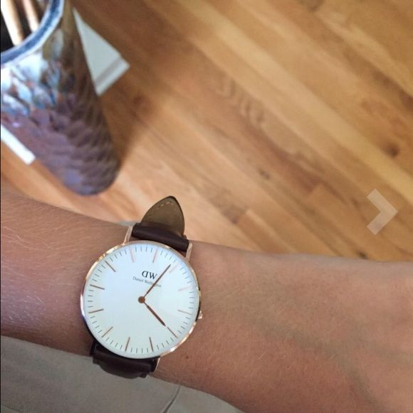 Daniel Wellington watch Brand new inspired Daniel wellington Brown strap with gold face . This is unisex , 40mm diameter . Water resistant .  Beautiful watch and quality guaranteed . Im a top seller and ny client love my watches , great price ! Please No trades , only serious buyers . Fast shipping Daniel Wellington Accessories Watches