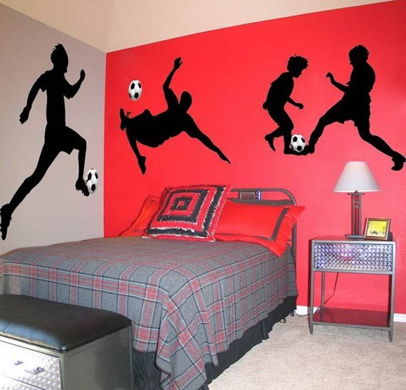 Soccer Teen Bedroom Interior Decorating ideas