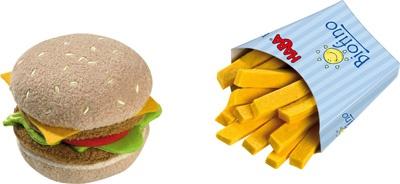 Hamburger et frites - Haba