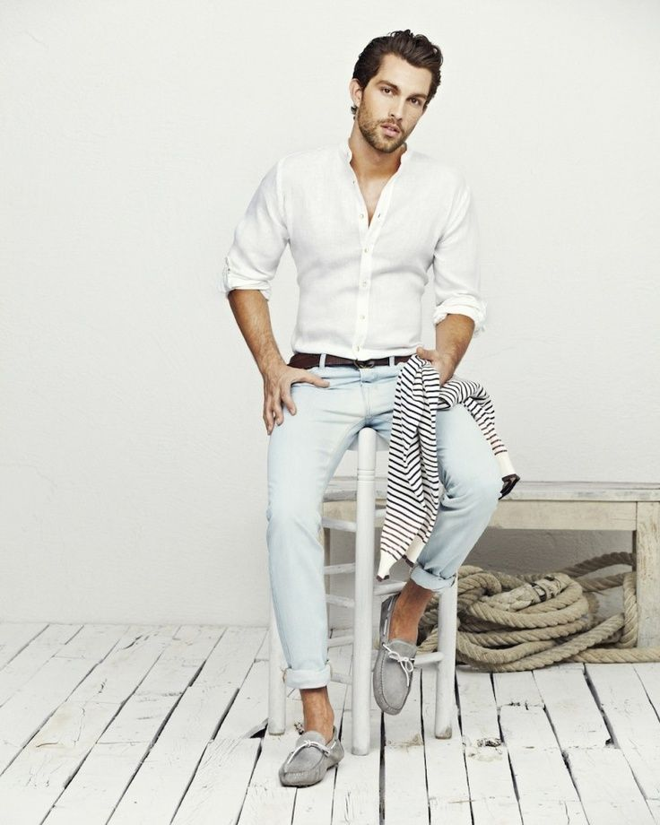 104 best White/Light BLue Shirt Styles images on Pinterest