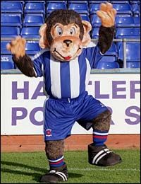 Hartlepool United - H'angus the Monkey :-)