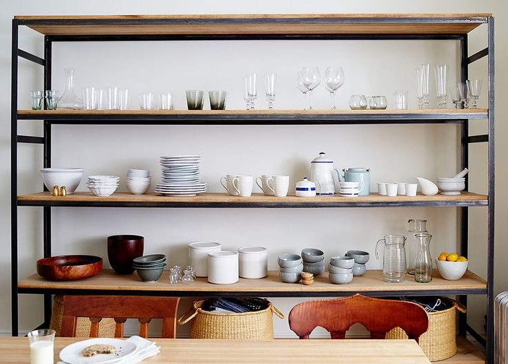 Storage Solution Simple Open Kitchen Shelves: 10 Gorgeous Takes On The Open Shelving Trend