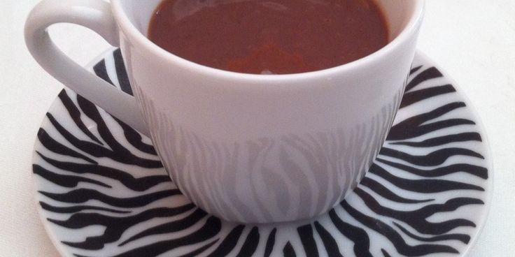 CHOCOLATE A LA TAZA SIN LACTOSA, sin azucar, sin frutosa