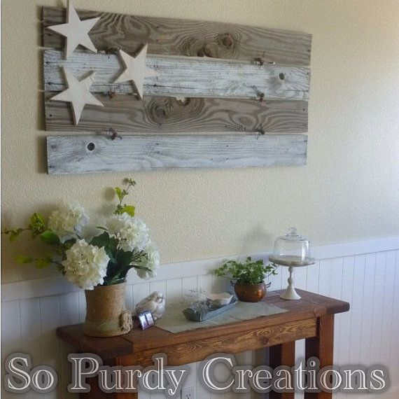 Rustic Cottage Chic Flag Americana Patriotic by SoPurdyCreations