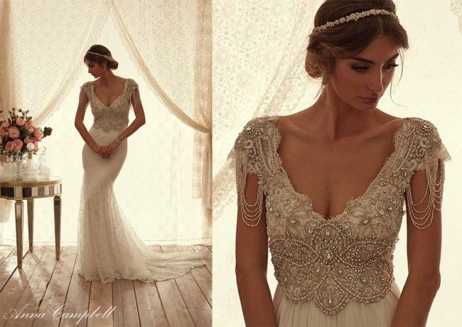 Anna Campbell Anna Campbell Wedding Dress Boho Wedding Dress Lace Bridal Dresses