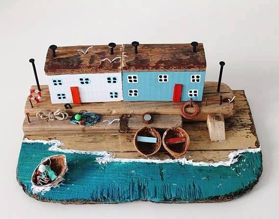Scultura di Driftwood Driftwood case Driftwood Cottage