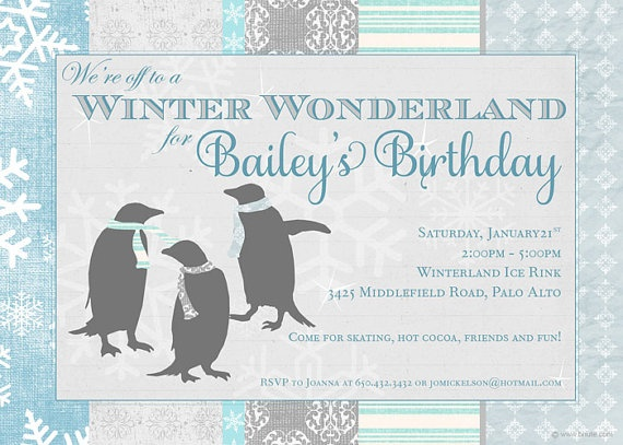 17 best images about winter on pinterest   snowflakes, digital, Party invitations