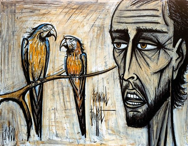 BERNARD BUFFET, LET THE CHATTER, 1990