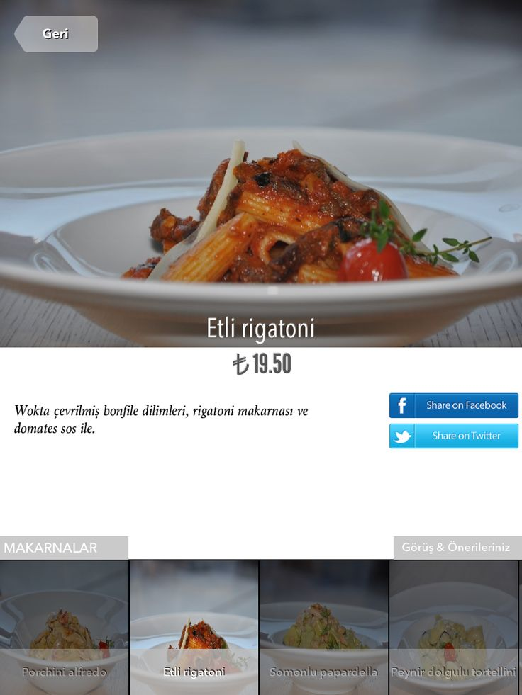 Best food photography on iPad menus. Show your dishes to your guests before they decide.