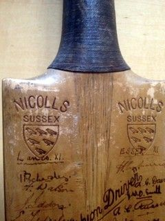 Signed Cricket Bat - New Zealand Test Tour 1931 and Counties around 175 Signatures