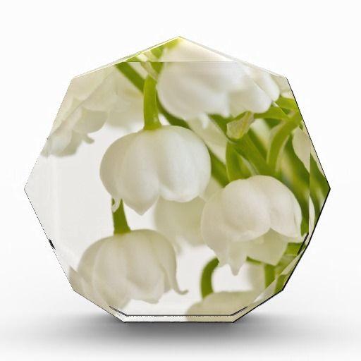 White Lilies Acrylic Award