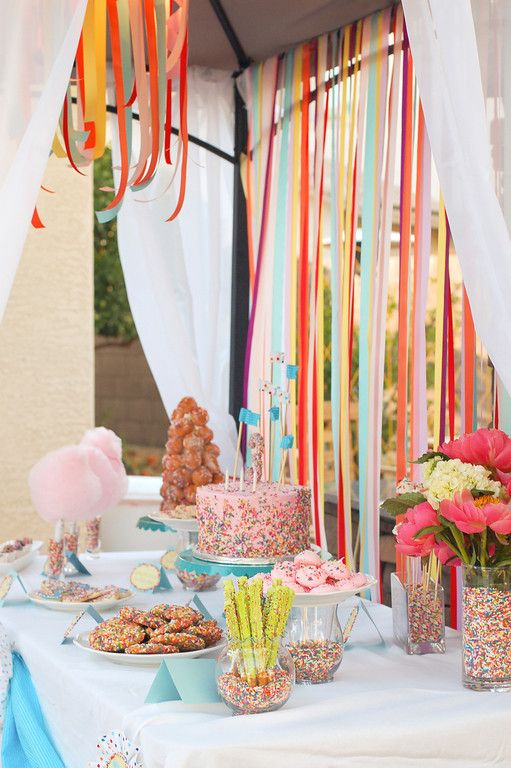 Sprinkles Birthday Party, Part 2! Dessert Table Time! | TikkiDo.com