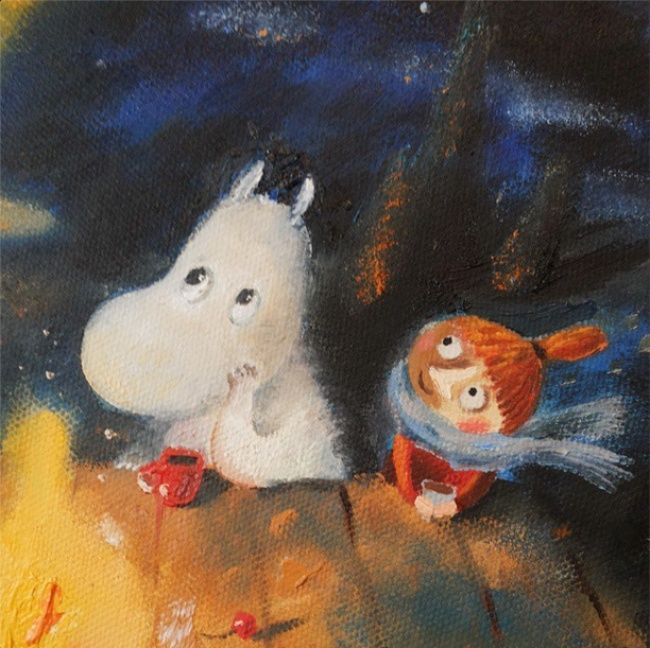 Moomin&Little my