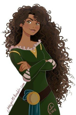This is what Merida from Brave would have looked like if she were based on me (though her eyes would need to be dark brown).