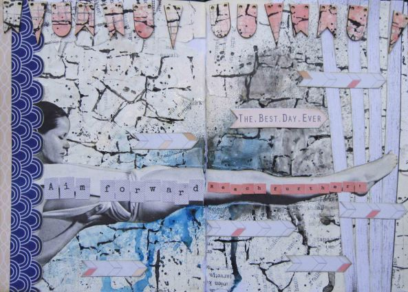 Art journaling by Linda Iswariah