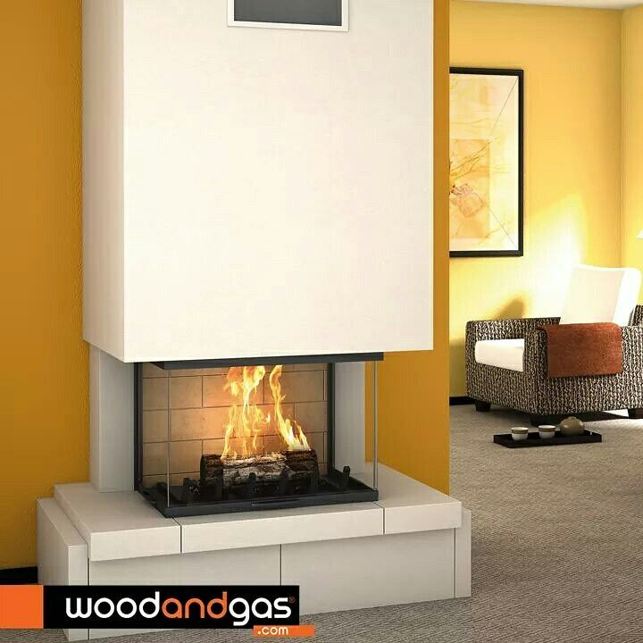 #Axis 3 sided wood fireplace
