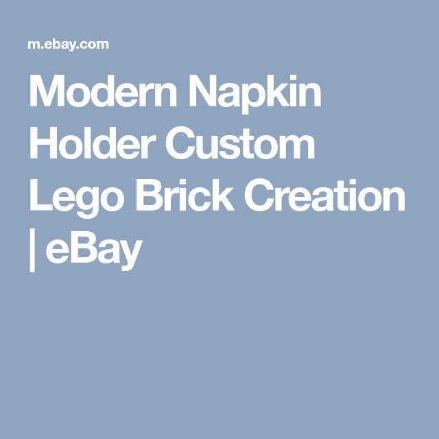 Modern Napkin Holder Custom Lego Brick Creation | eBay