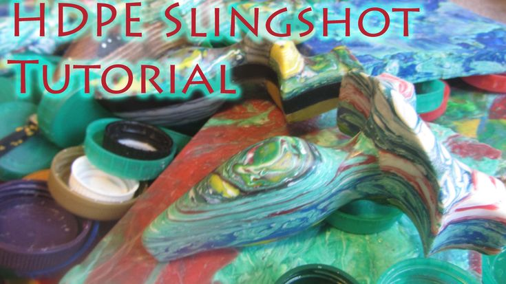 How To Make a Recycled Slingshot From HDPE Bottle Caps - Strong, Lightwe...