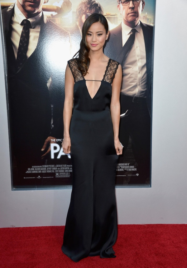 Fabulously Spotted: Jamie Chung Wearing Giorgio Armani - 'Hangover Part 3' LA Premiere - http://www.becauseiamfabulous.com/2013/05/jamie-chung-wearing-giorgio-armani-hangover-part-3-la-premiere/