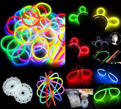 100 Knicklichter, Glow Sticks, Leuchtsticks+5 Leuchtbrille+5 Leucht…