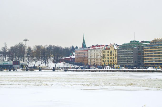 Helsinki, Finland cityscape by Anna Serbolina