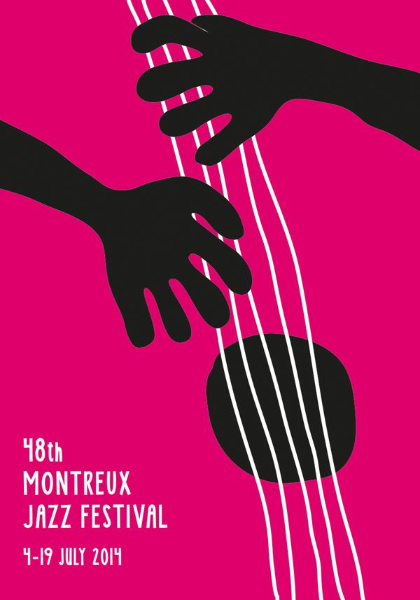 From a student in a Finn Nygaard workshop, Montreux Jazz Festival Poster, 2014