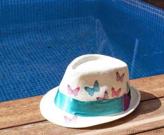 Tutorial para personalizar el sombrero de la playa con decoupage. Diy: personalized beach hat.
